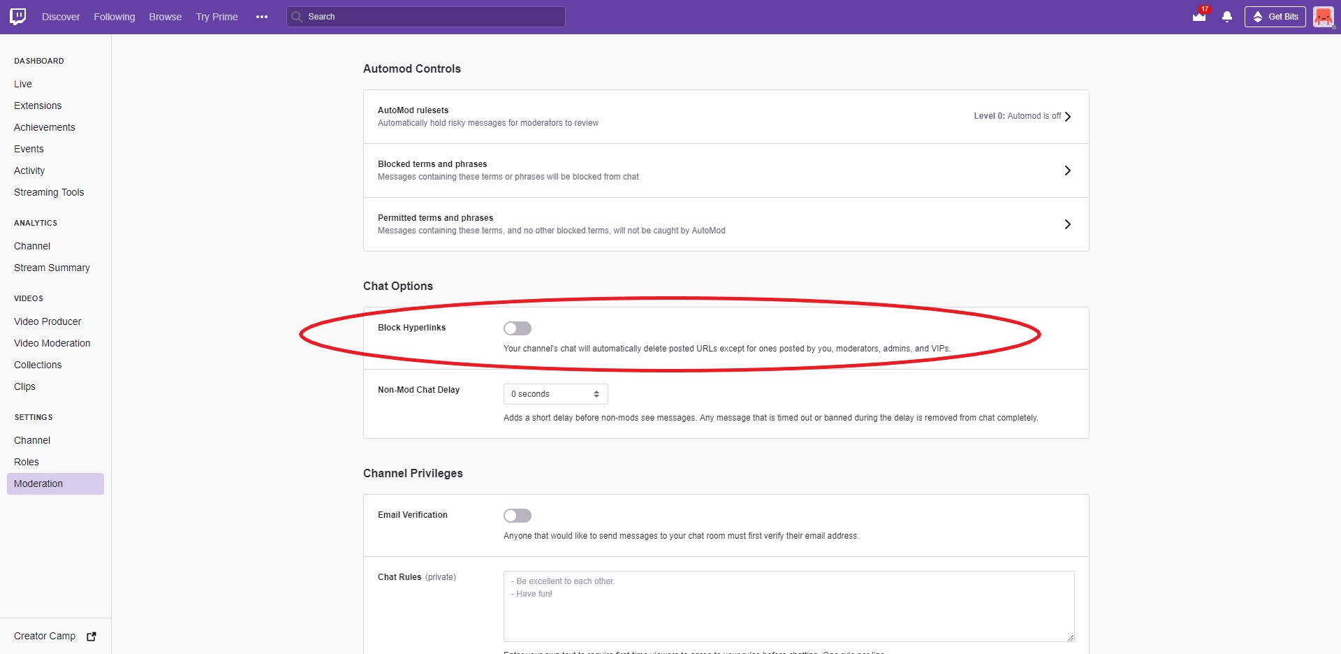 How to Setup Your Twitch Settings - RelativityRabbit